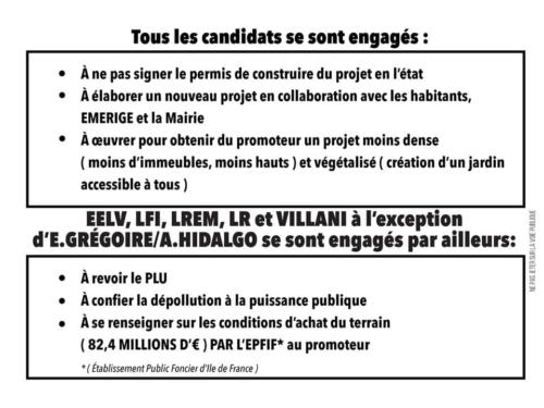 point au 8 mars sur les engagements